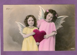 Petites Filles - Anges - Coeur - 1907 - - Engelen