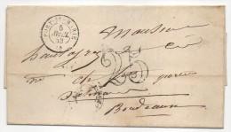 Courrier Commercial Siderurgie - CAD Port Sainte Marie (Lot Et Garonne) Pour Bordeaux 1853 - Marcophilie (Lettres)