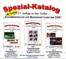 2016 DDR Zusammendrucke+Markenhefte+SMH Katalog Teil #1-3 Neu 75€ RICHTER Se-tenant+booklet+carnet Special Catalogue GDR - Books, Magazines, Comics