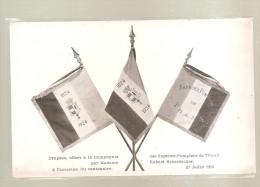 Haut Rhin - 68 - Thann - Drapeau Sapeurs Pompiers Pompier 1824-1924 - Offert Par Madame Robert Scheidecker Ed Dornach - Thann