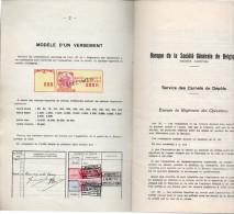 Carnet De Dépôt Société De Banque Générale + Vignette 50.000fr. 2 Scans - Documenten