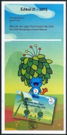 """BRAZIL 2015  - """"TOM""""   Mascot Of The Paralympic Games   - RIO 2016 - OFFICIAL BROCHURE - EDICT #21 - Brazil"""