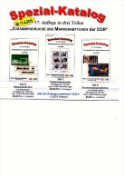 DDR 2016 Zusammendrucke+Markenhefte+SMH Katalog #1-3 Neu 75€ RICHTER Se-tenant+booklets+carnet Special Catalogue Germany - Alte Papiere
