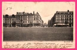 Lille - Place Sébastopol Et Rue Inkermann - Tram - Animée - Édition B.F. - 1904 - Lille