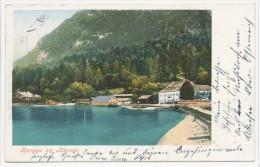 Burgau Am Attersee, Stempel Unterach - Kammer-Schörfling, F. E. Brandt Nr. 335 - Bad Ischl