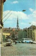 17th Of June Square - Bus - Riga - Old Town - 1977 - Latvia USSR - Unused - Lettonie