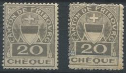 1238 - FRIBOURG Fiskalmarken - Fiscaux