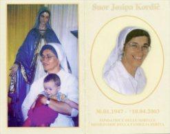 Santino Depliant SUOR JOSIPA KORDIC Fondatrice Sorelle Missionarie Famiglia Ferita - OTTIMO M36 - Religion & Esotérisme