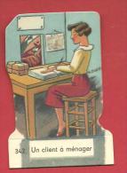 CHROMO Carte Ou Image à Poser UN CLIENT à MENAGER N° 342   Fromagerie GROSJEAN LA VACHE SERIEUSE - Vieux Papiers