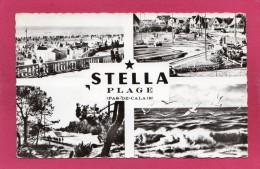 62 PAS-de-CALAIS STELLA-PLAGE, Multi-Vues, Animée,  1963, (F. Gambier, Etaples) - Sonstige Gemeinden