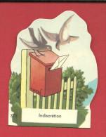CHROMO Carte Ou Image à Poser INDISCRETION N° 375  Fromagerie GROSJEAN LA VACHE SERIEUSE - Vieux Papiers