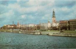 Embankment Of The Daugava River - Riga - 1973 - Latvia USSR - Unused - Lettonie