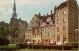 Residential Quarters In Meistaru Street - Car Volga , Moskvitch - Old Town - Riga - 1973 - Latvia USSR - Unused - Lettonie