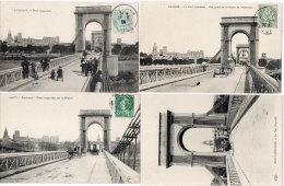 AVIGNON  - 4 CPA - Le Pont Suspendu, Toutes Avec Attelages   ...   (86017) - France