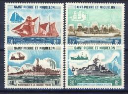 S. Pierre Et Miquelon 1971 Serie N. 410-413 Battelli Di Assistenza Alla Pesca MVLH Catalogo € 235 - St.Pierre & Miquelon