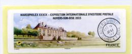 2015 LISA 2 MARCOPHILEX XXXIX AUVERS SUR OISE / VIGNETTE VIERGE - 2010-... Illustrated Franking Labels