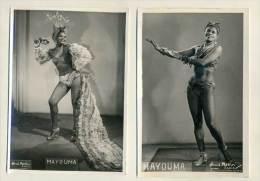 Mayouma - (Paris XVe) 2 Photos Henri Mellin - Danseuse Tropical Ca 1950 - Berühmtheiten