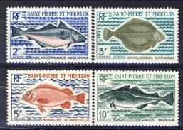 S. Pierre Et Miquelon 1972 Serie N. 421-424 Pesci MNH Catalogo € 36 - St.Pierre & Miquelon