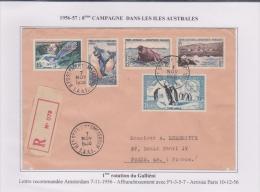 Taaf - Iles Australes - Saint Paul Et Amsterdam - Recommandé - Galliéni - Covers & Documents