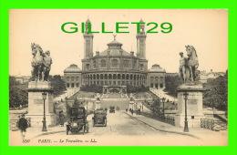 PARIS (75) - LE TROCADÉRO - LL. - ANIMÉE VIEILLES VOITURES - LÉVY ET NEURDEIN RÉUNIS - DOS VERT - - Other Monuments