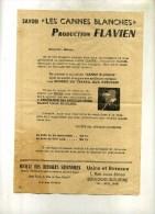 - SAVON LES CANNES BLANCHES . PRODUCTION FLAVIEN . - Werbung