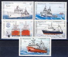 S. Pierre Et Miquelon 1987 -1991 Navi Varie MNH Catalogo € 10,20 - St.Pierre & Miquelon