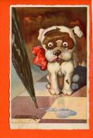 CHIEN - Humour (animaux) Année 1925 ( écrite Et Non Oblitérée) - Chiens