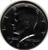 Etats-Unis, United States, USA - Half 1/2 Dollar 1971 - KENNEDY - Silver, - Federal Issues