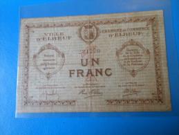 Normandie 76 Elbeuf Chambre De Commerce , 1ère Guerre Mondiale 1 Franc - Chamber Of Commerce