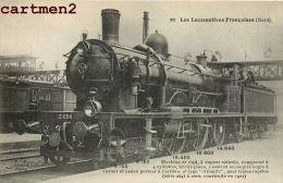 LES LOCOMOTIVES  DU NORD MACHINE COMPOUND LOCOMOTIVE TRAIN ZUG TRENO LOCOMOTIVA FLEURY - Trains