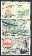 S. Pierre Et Miquelon Posta Aerea 1947 Serie N. 18-20 Aerei Sulle Isole MVLH Catalogo € 45 - Posta Aerea