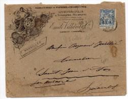 1892 - ENVELOPPE ILLUSTREE De CLERMONT L'HERAULT Avec SAGE -> MANUFACTURE DE PAPIERS A CIGARETTES - Marcophilie (Lettres)