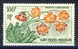 S. Pierre Et Miquelon Posta Aerea 1962 N. 27 Fr 100 MH Catalogo € 14 - Posta Aerea