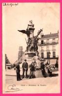 Lille - Monument De Testelin - Animée - Librairie Papeterie Reliure - 1903 - Lille