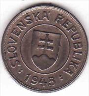 Slovaquie 1945, 1 Koruna - Couronne - Crown - Krone,  , - Slovaquie