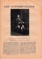 """LES CONTEMPORAINS"" - Charles-Maurice De TALLEYRAND-PÉRIGORD (1754-1838) - Historique - - Historical Documents"