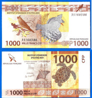 Polynesie France French Pacific Territories 1000 Francs 2014 Tahiti Nouvelle Caledonie Wallis Pacifique Skrill Ppal Btc - Papeete (French Polynesia 1914-1985)