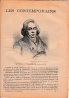 """""""LES CONTEMPORAINS"""" - Le Prince De TALLEYRAND (1754-1838) - Historique - - Historical Documents"""
