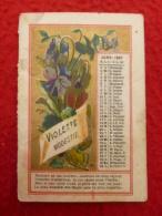 CALENDRIER 7.5 X 5 FLEURS 1891 - Formato Piccolo : ...-1900