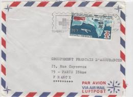 REUNION:LETTRE POUR PARIS. - Réunion (1852-1975)
