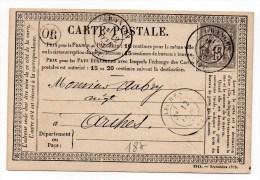 1877 - CARTE PRECURSEUR Avec SAGE écrite à REHAUPAL (ORIGINE RURALE) & TàD De GRANGES (VOSGES) - Marcophilie (Lettres)