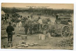CPA   MILITARIA  /  Camp De Mailly  Les Cuisines Roulantes  Carte  Animée   1921    VOIR  DESCRIPTIF  §§§ - Kazerne