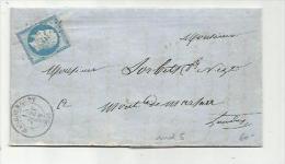 FRANCE : Empire No 14 Sur LaC Du 15 06 1858    PC 1926   Maubourget - 1849-1876: Période Classique
