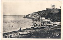 -66-  PORT VENDRES  Plage Des Tamarins Petit Pli Angle écrite - Port Vendres
