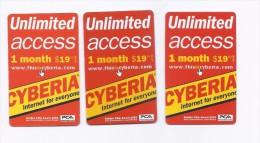 3 Used Internet Cards Lebanon Cyberia, Liban Libanon