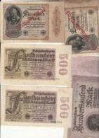 INFLA Lot 5 Banknoten: 2 500 MILIONEN MARK+21 MILIAD MARKT+1 10-Gute Zustand-e618 - [ 3] 1918-1933 : Weimar Republic