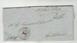 1816 LOMBARDO-VENETO Lettera BASSANO-CASTELFRANCO-lineare Datario BASSANO+timbro UFFICIO Con STEMMA ARALDICO-e625 - Italia