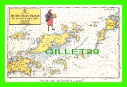 CARTES GÉOGRAPHIQUES - MAPS - BRITISH VIRGIN ISLANDS - TRAVEL IN 1979 - - Cartes Géographiques
