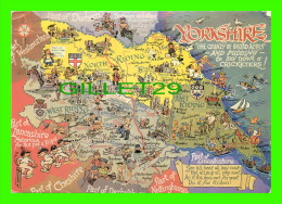 CARTES GÉOGRAPHIQUES - MAPS - YORKSHIRE, UK -  THE COUNTY OF BROAD ACRES - TRAVEL IN 1969 - - Cartes Géographiques