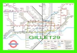 CARTES GÉOGRAPHTHE LONDON UNDERGROUND MAP - PUB. BY J. ARTHUR DIXON - - Cartes Géographiques
